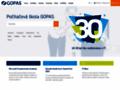Náhled webu Počítačová škola GOPAS