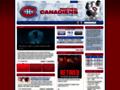 Náhled webu Fan Club Montreal Canadiens