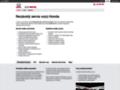 Náhled webu Honda, Motor Holding, a.s.