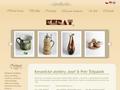 Náhled webu Kerat - Keramické ateliery Josef & Petr Štěpánek