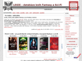 Náhled webu Legie - databáze knih Fantasy a Sci-Fi