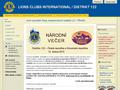 Náhled webu Lions Club Czech