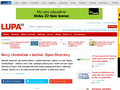 Náhled webu Lupa: Nový chodníček v bažině: Open Directory