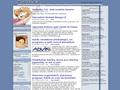 Náhled webu Česko-slovenský klub přátel mangy a anime