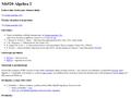 Náhled webu Algebra 2