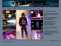 Náhled webu Michael Jackson Show