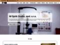 Náhled webu M Optik Studio