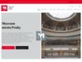 Náhled webu Muzeum hlavního města Prahy