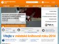 Náhled webu Masarykova veřejná knihovna Vsetín