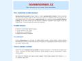 Náhled webu NomenOmen