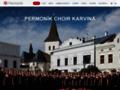 Náhled webu Sborové studio Permoník