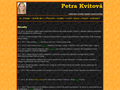 Náhled webu Petra Kvitová