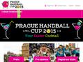 Náhled webu Prague Handball Cup