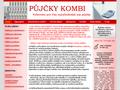 Náhled webu Půjčky Kombi