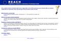 Náhled webu Registrace, Evaluace a Autorizace CHemických látek (REACH)