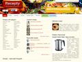 Náhled webu Recepty na dobroty