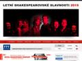 Náhled webu Letní shakespearovské slavnosti