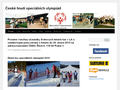 Náhled webu Speciální olympiáda
