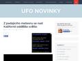 Náhled webu UFO Novinky