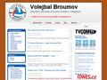 Náhled webu Volejbal Broumov