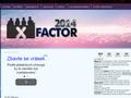 Náhled webu X Factor 2014