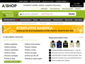 Náhled webu AJ Shop