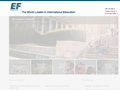 Náhled webu EF Education First